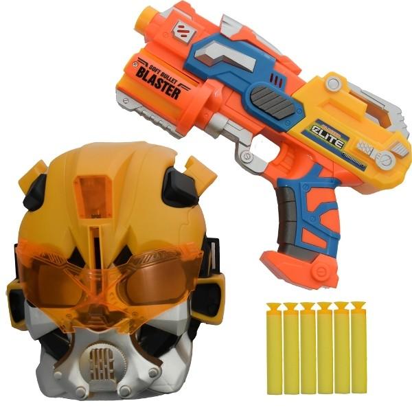 Lançador de Dardos Soft Bullet Blaster Space com Máscara - Wellmix