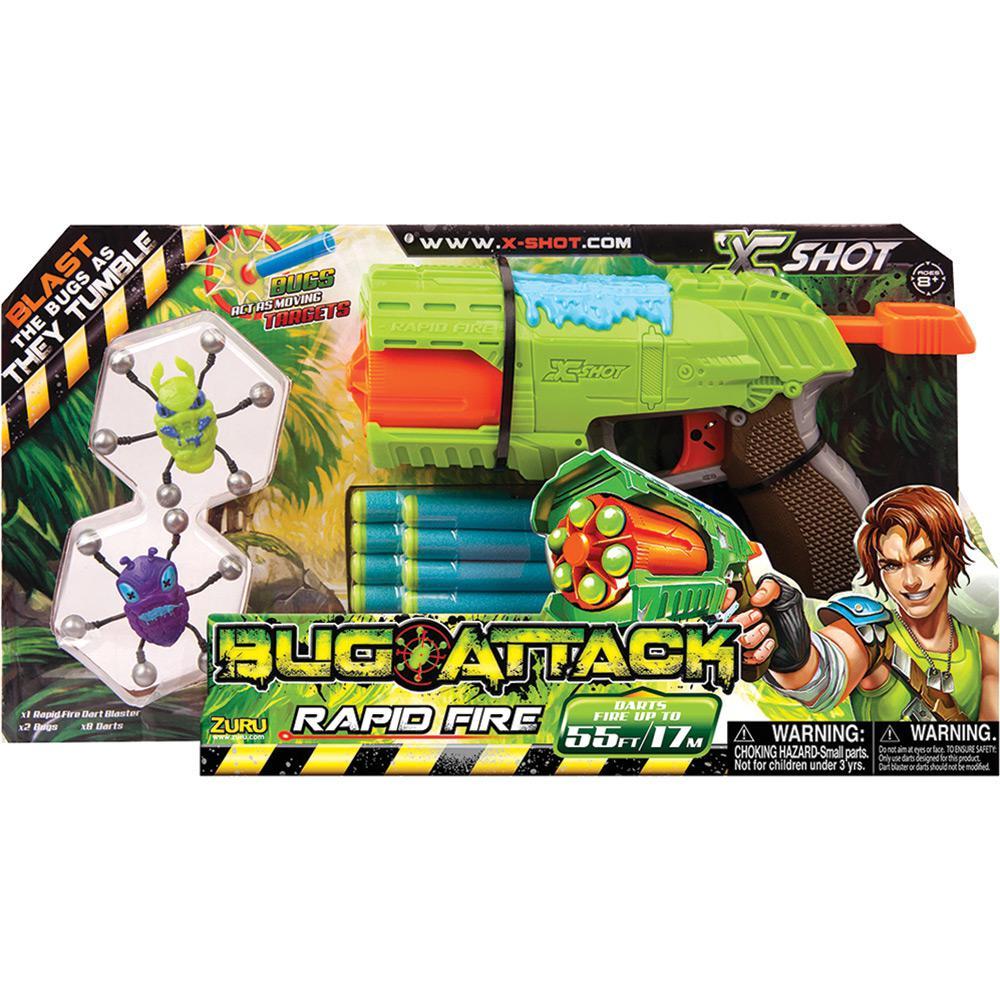 Lançador de Dardos X-Shot Bug Attack Rapio Fire - Candide