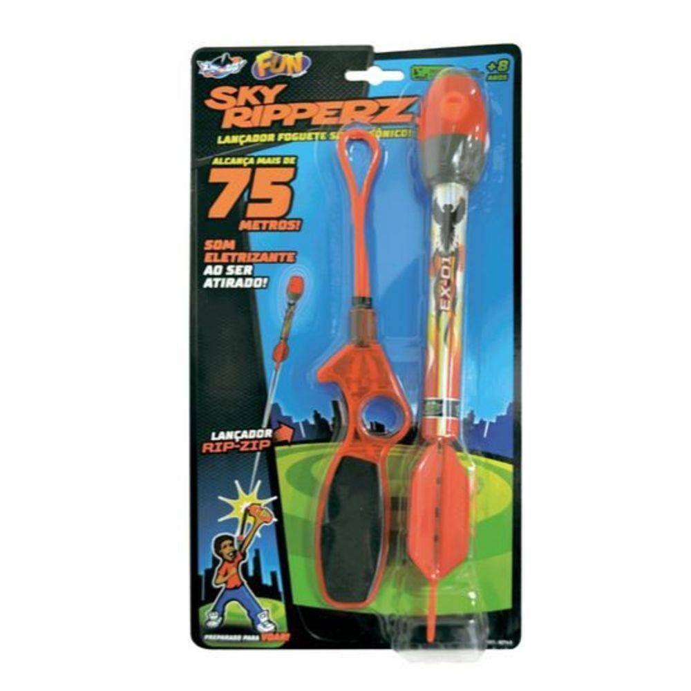 Lançador Foguete Super Sônico SKY Ripperz - FUN