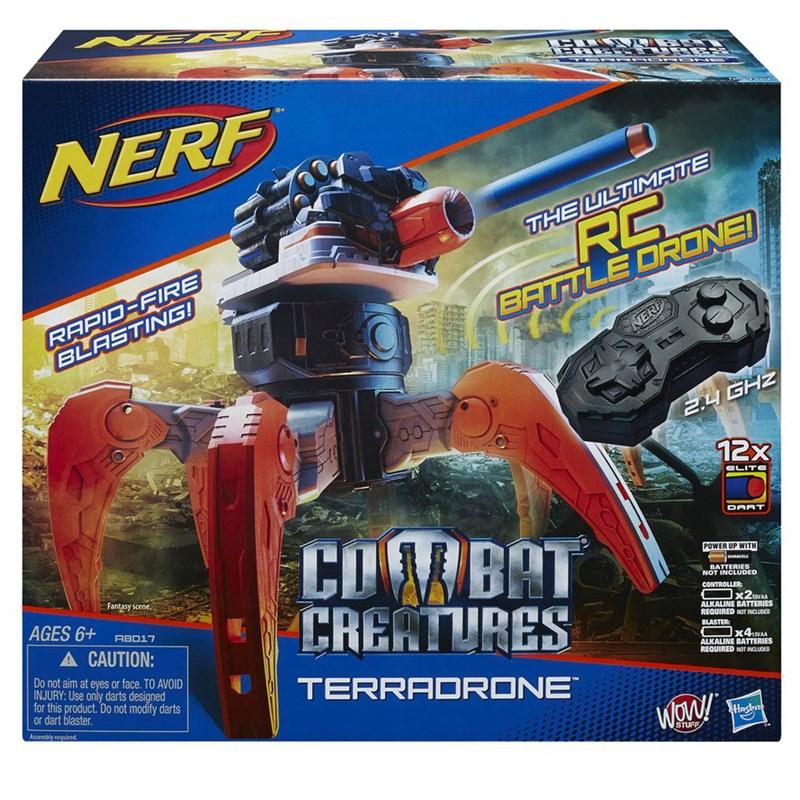 Lançador de Dardos Nerf Elite Combat Creature Terradrone - Hasbro