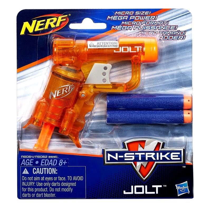 Lançador de Dardos Nerf N-Strike Jolt Color Laranja - Hasbro