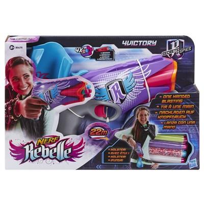 Lançador de Dardos Nerf Rebelle 4 Victory - Hasbro
