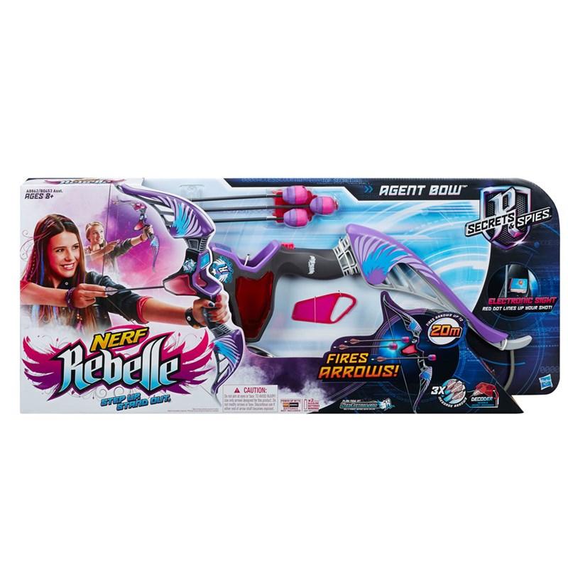 Lançador de Dardos Nerf Rebelle Secrets e Spies Agent Bow Roxo - Hasbro