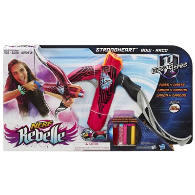 Lançador de Dardos Nerf Rebelle Strongheart Pink - Hasbro