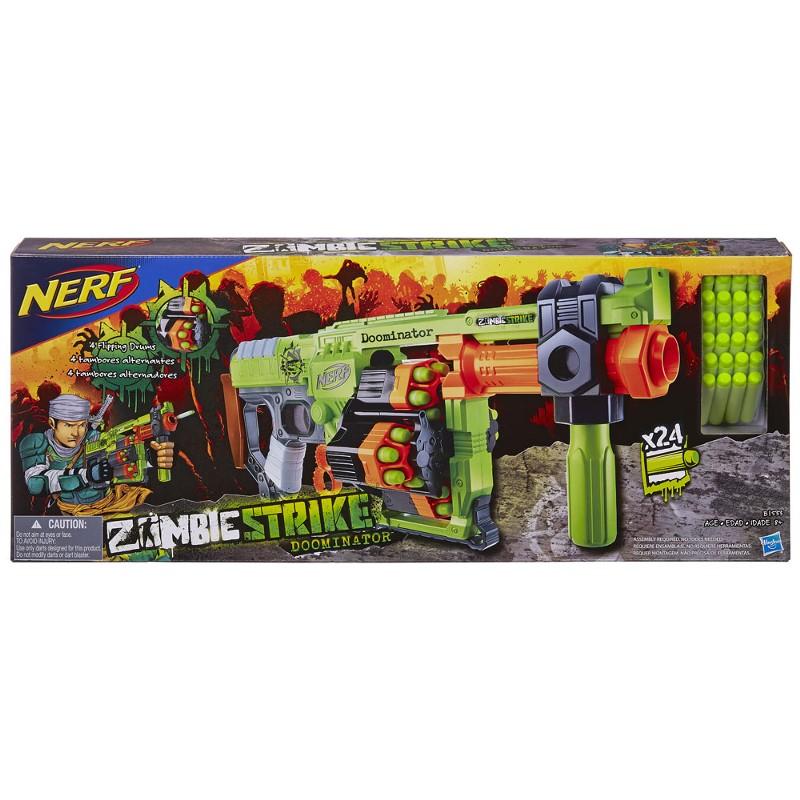 Lançador de Dardos Nerf Zombie Strike Doominator - Hasbro