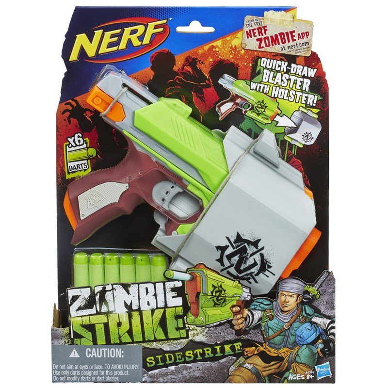 Lançador de Dardos Nerf Zombie Strike Sidestrike - Hasbro