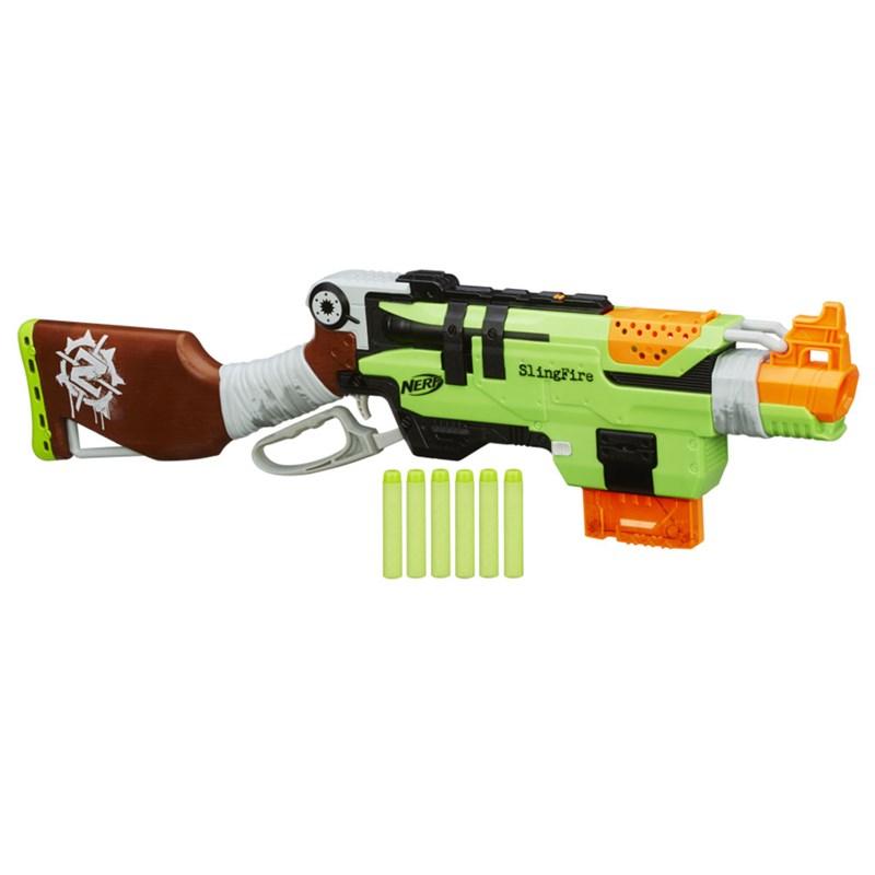 Lançador de Dardos Nerf Zombie Strike Slingfire - Hasbro