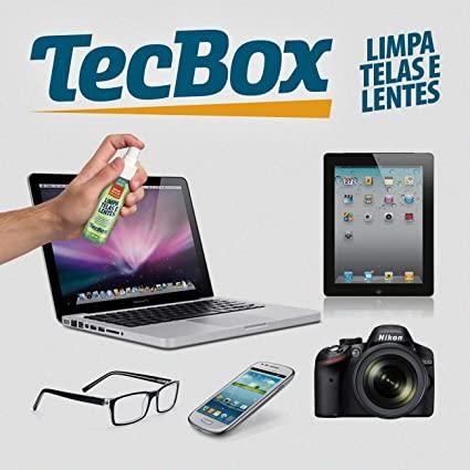 Limpa Telas E Lentes + 2 Flanela Tecbox 60ml