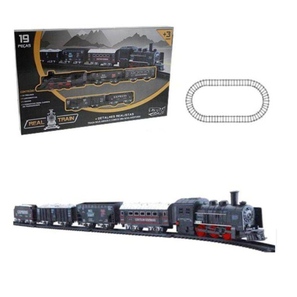 Locomotiva Real Train - Zoop Toys