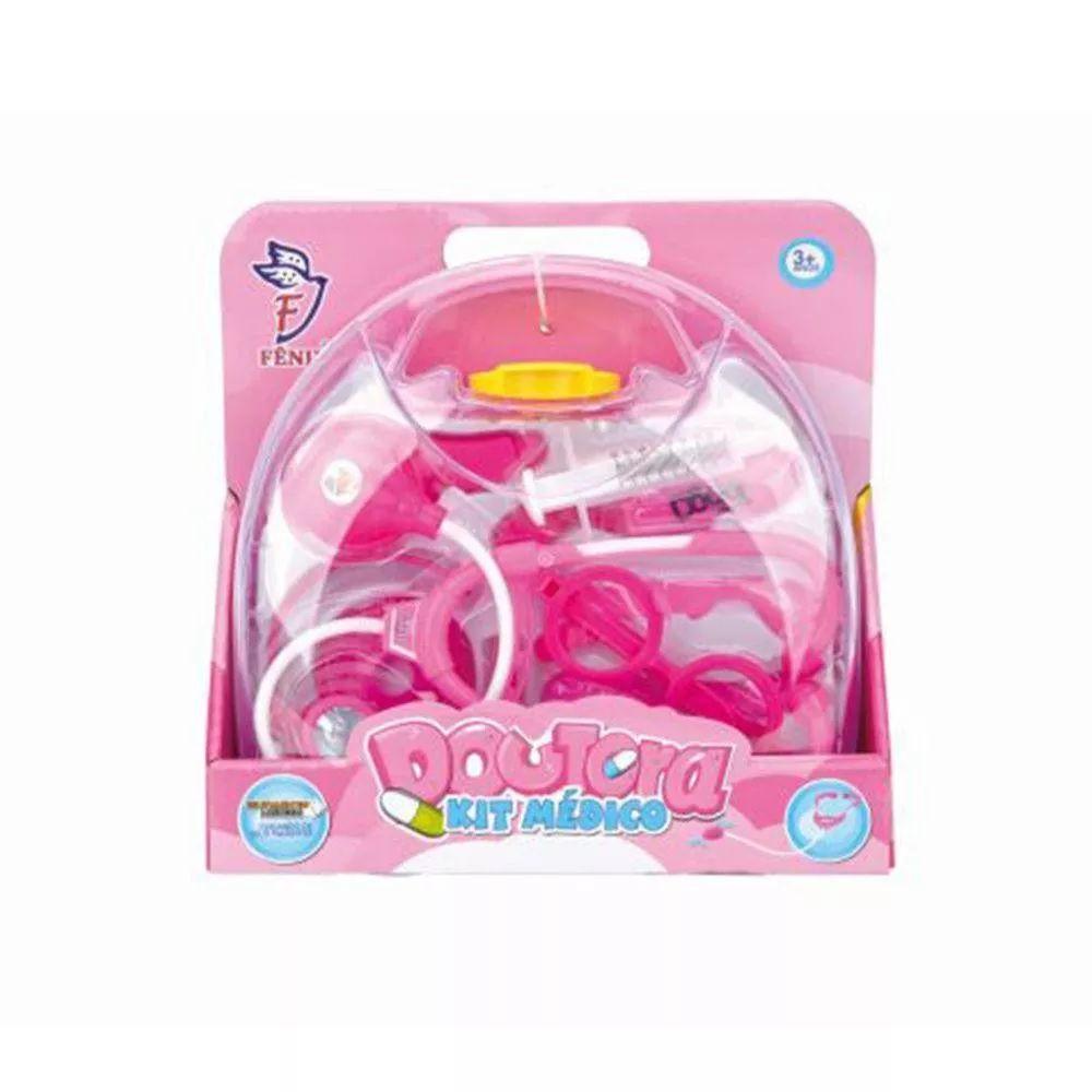 Maleta Doutora Kit Médico Rosa - Fenix Brinquedos