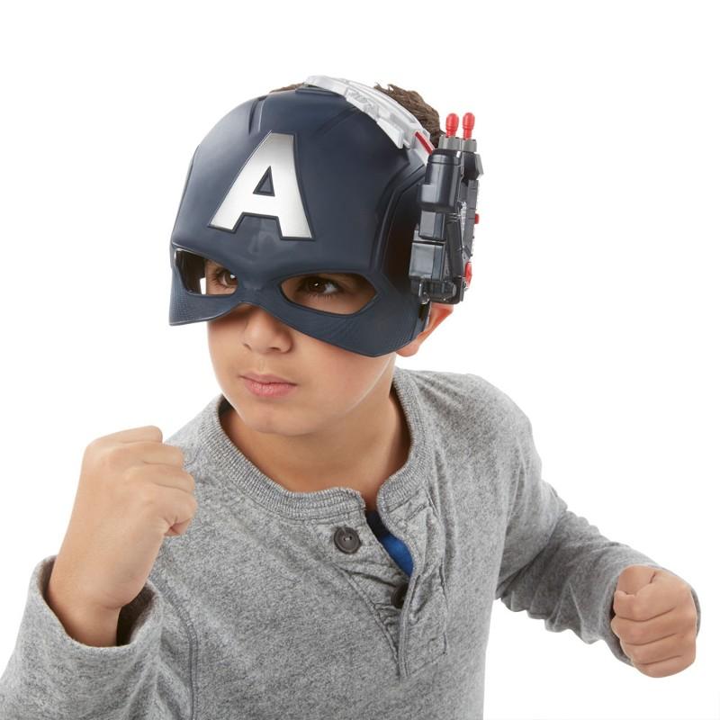 Máscara Eletrônica Marvel Capitão América Guerra Civil Disney - Hasbro