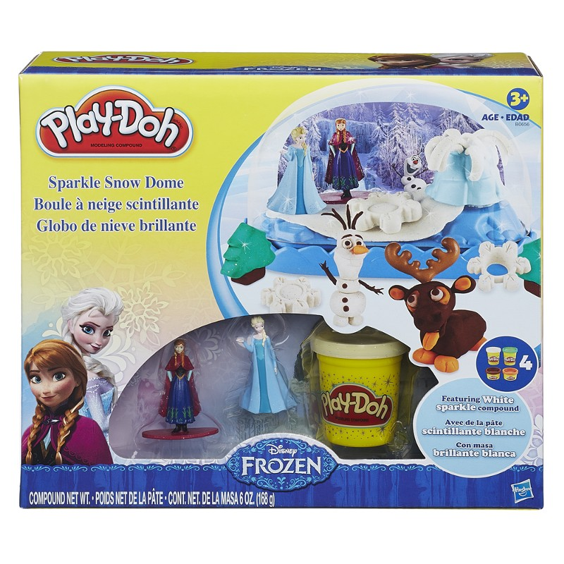 Massinha Play-Doh Disney Frozen Globo com Mini Bonecas - Hasbro