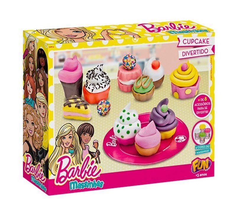 Massinha Barbie Cupcake Divertido - FUN