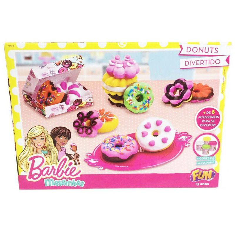 Massinha Barbie Donuts Divertido - FUN