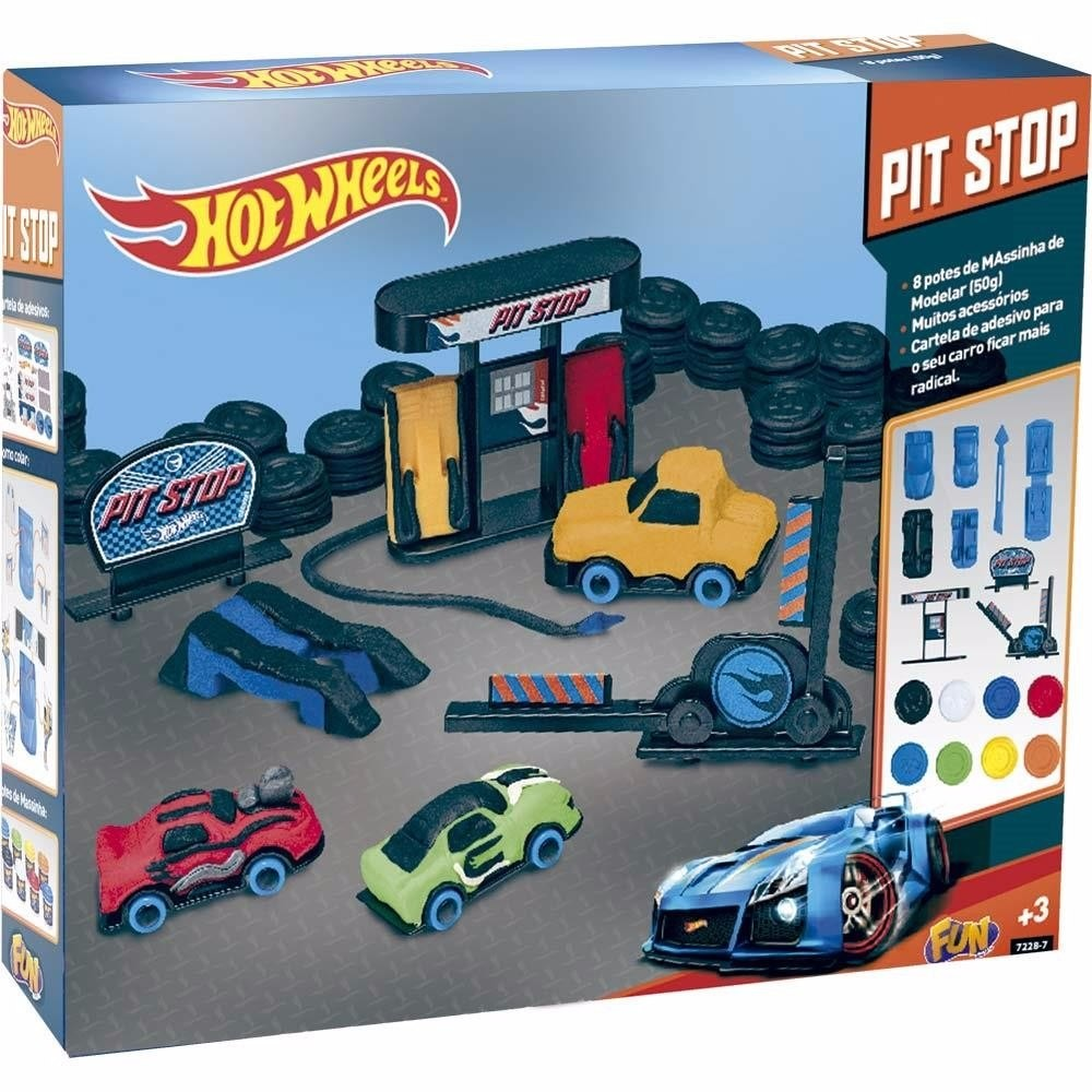 Massinha Hot Wheels Pit Stop - FUN