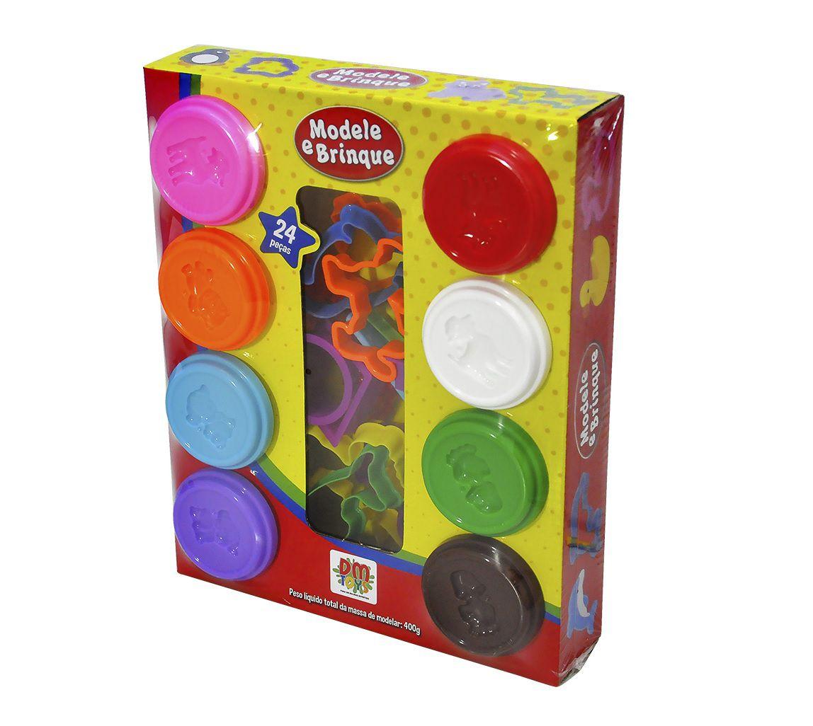 Massinha Modele e Brinque 24 Peças Sortidos - Dm Toys