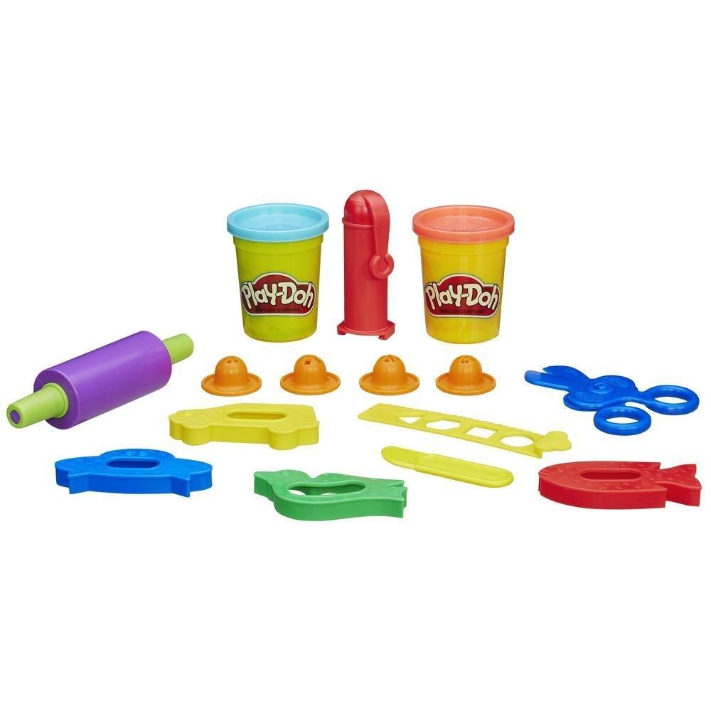 Massinha Play-Doh 2 Potes Rolos Cortadores e Mais - Hasbro