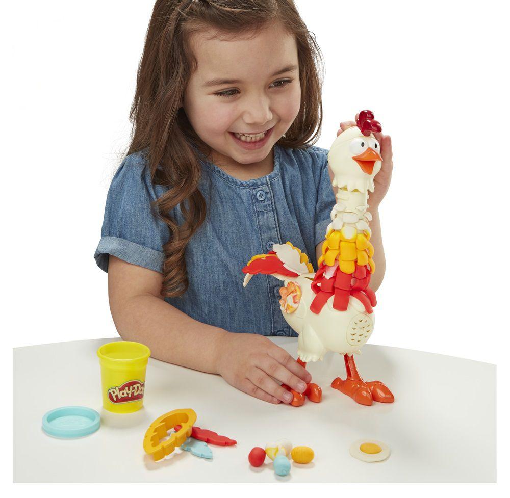 Massinha Play-Doh Animal Crew Galinha Penosa - Hasbro