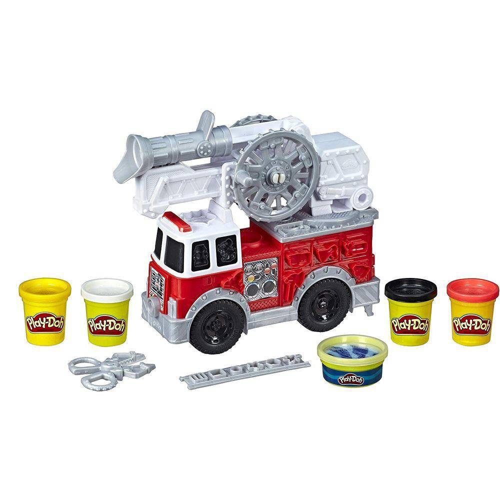 Massinha Play-Doh Wheels Caminhão de Bombeiro - Hasbro
