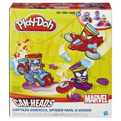 Massinha Play-Doh Can-Heads Veículos Marvel - Hasbro