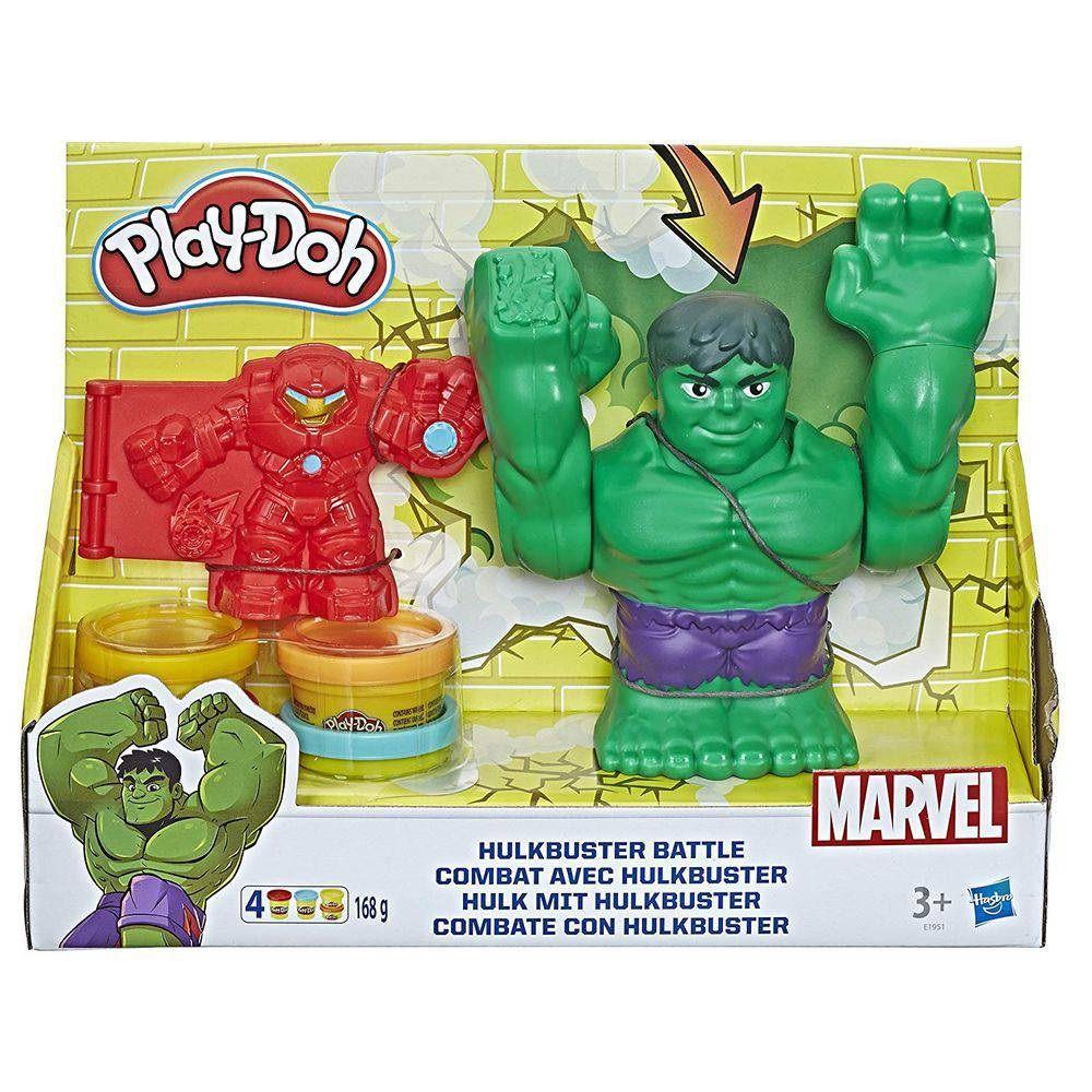 Massinha Play-Doh Combate com Hulkbuster - Hasbro