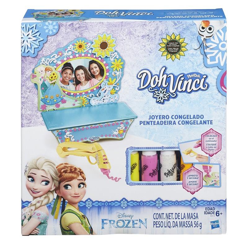 Massinha Play-Doh DohVinci Penteadeira Disney Frozen - Hasbro