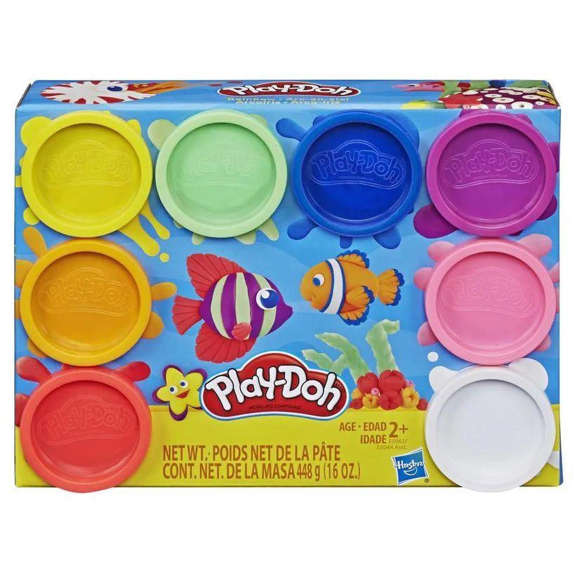 Massinha Play-Doh Kit com 8 Cores do Arco-íris - Hasbro
