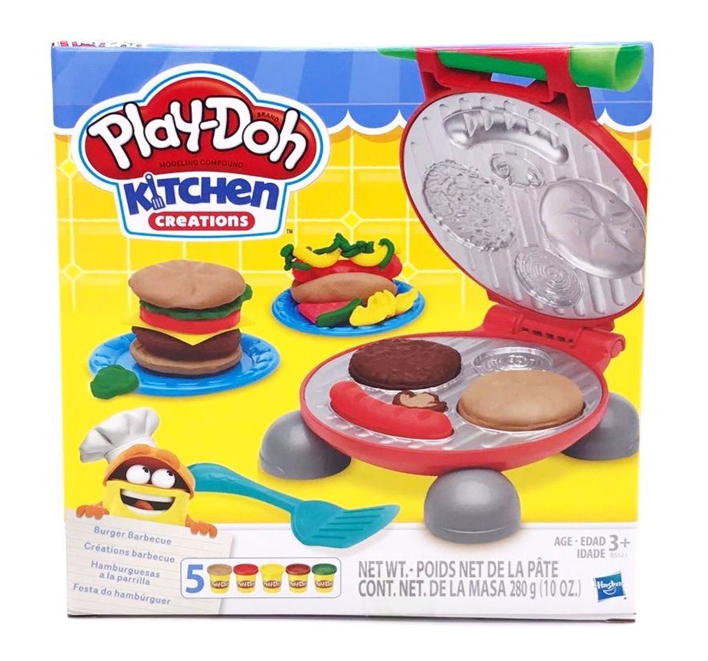 Massinha Play-Doh Kitchen Creations Festa do Hambúrger - Hasbro