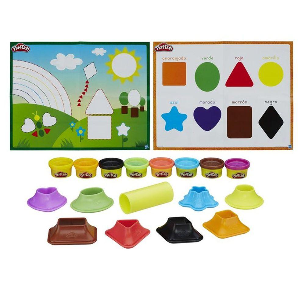 Massinha Play-Doh Moldar e Aprender Cores e Formas - Hasbro