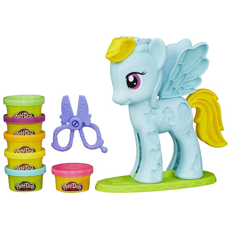 Massinha Play-Doh My Little Pony Rainbow Dash Pônei e Penteados - Hasbro