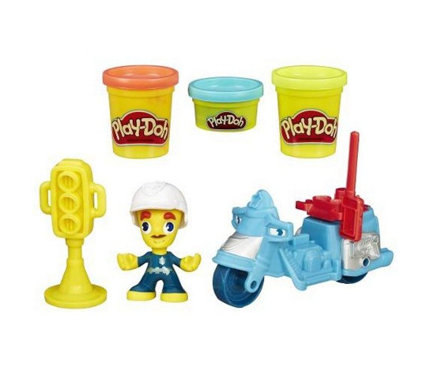Massinha Play-Doh Town Moto de Polícia - Hasbro
