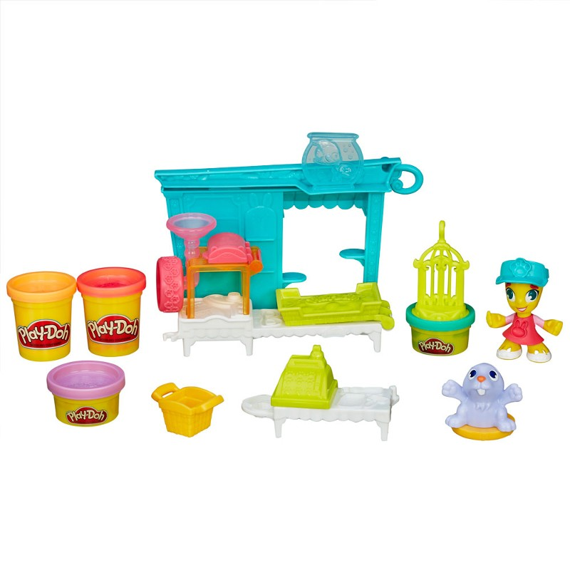 Massinha Play-Doh Town Tenda de Mascotes Pet Shop - Hasbro