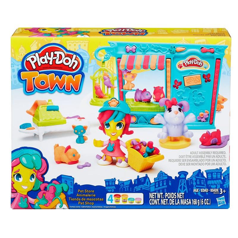 Massinha Play-Doh Town Tenda de Mascotes Pet Shop - Hasbro