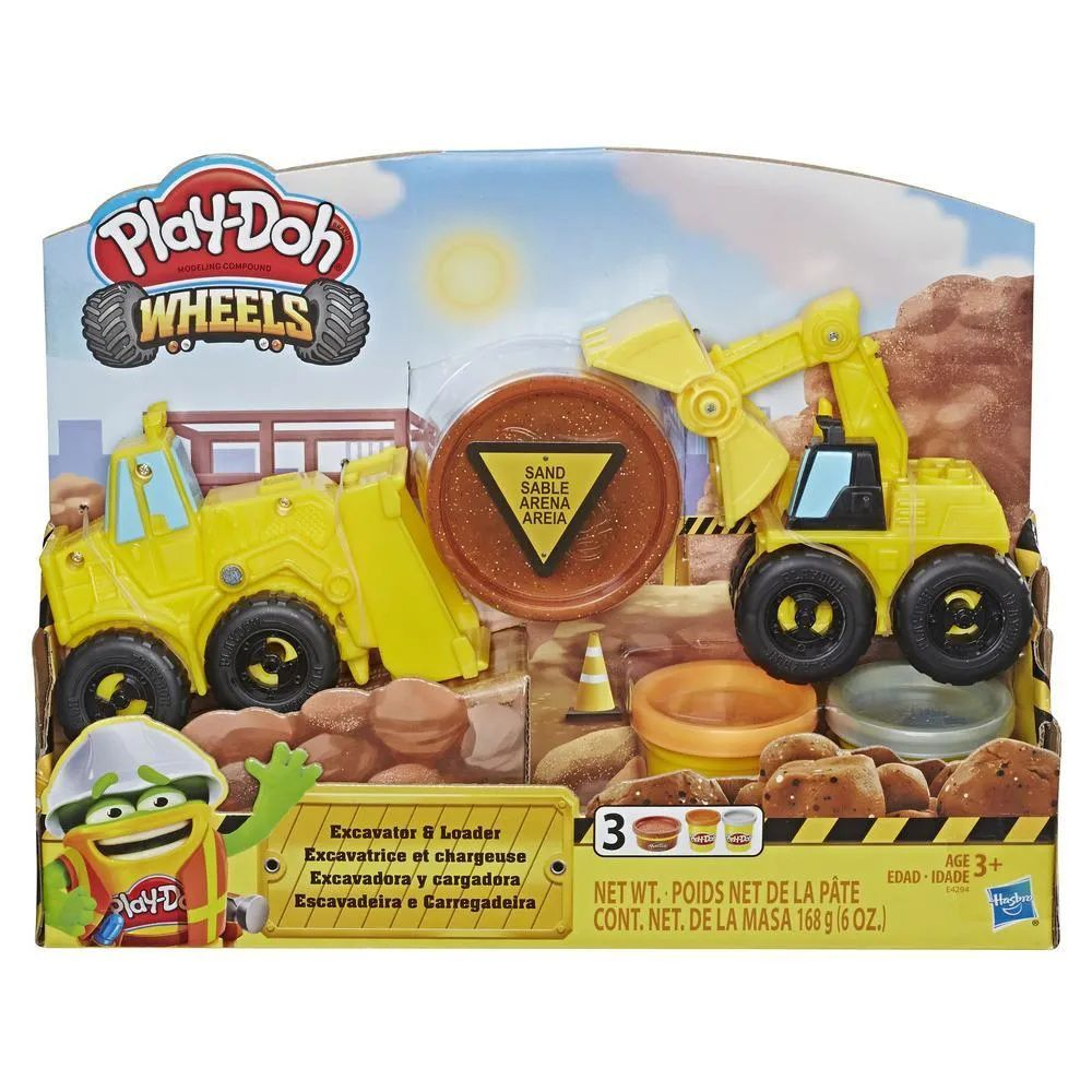 Massinha Play-Doh Wheels Escavadeira e Carregadeira - Hasbro