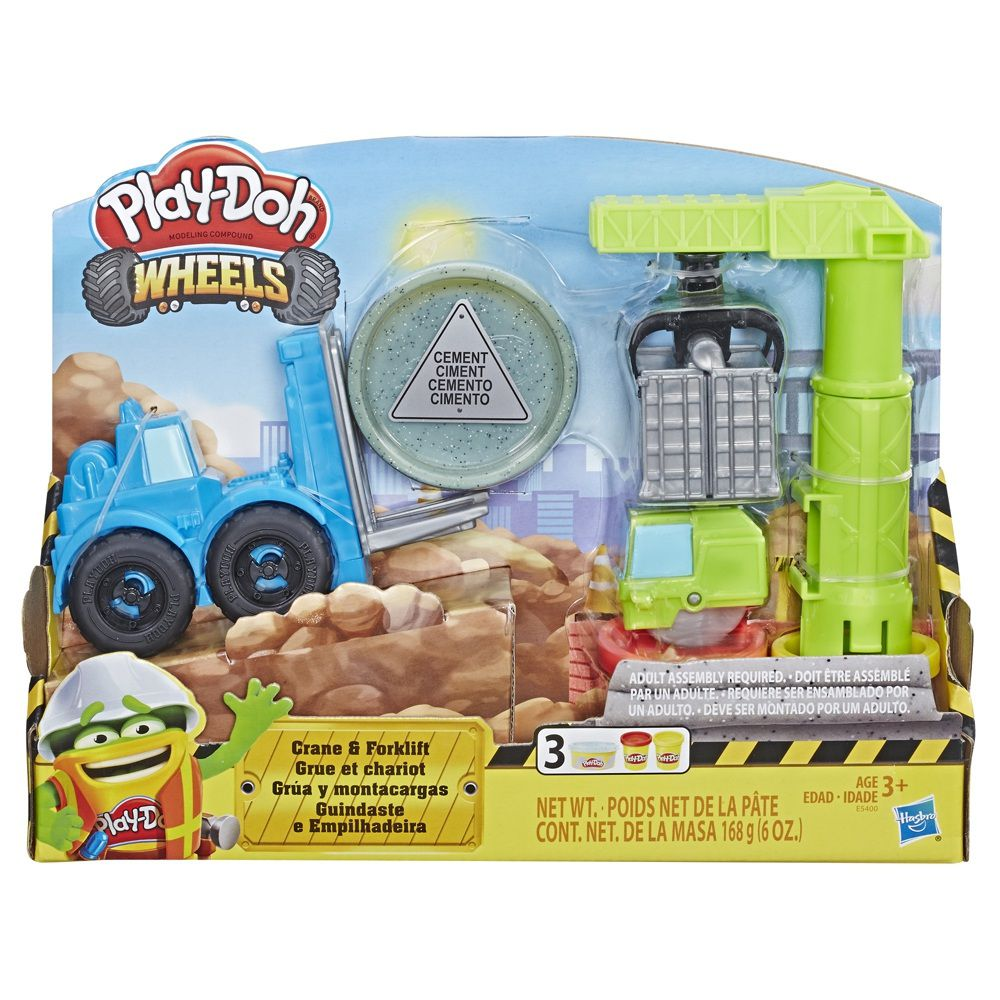 Massinha Play-Doh Wheels Guindaste e Empilhadeira - Hasbro