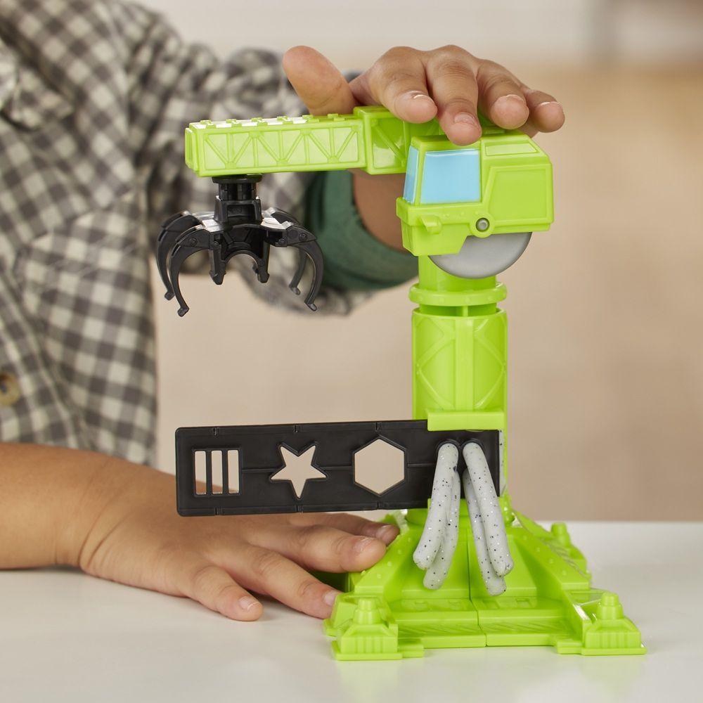 Massinha Play-Doh Wheels Guindaste e Empilhadeira - Hasbro