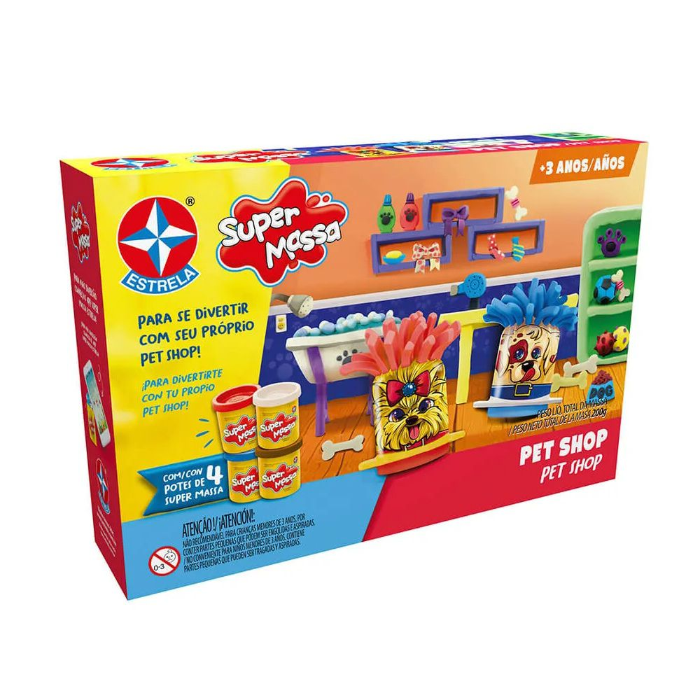 Massinha Super Massa Pet Shop - Estrela