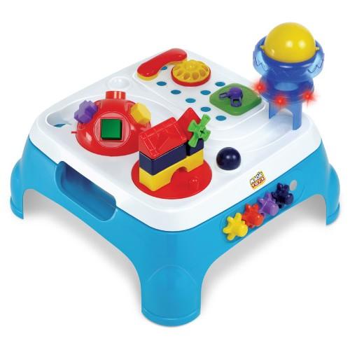 Mesa Maxi Atividades Azul com Luz e Som - Magic Toys