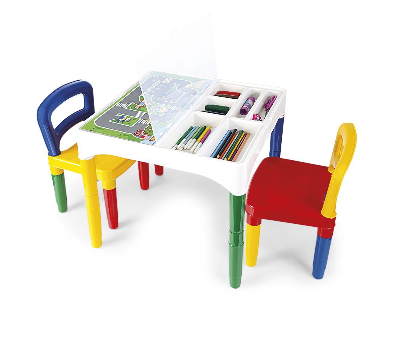 Mesinha Didática com 2 Cadeiras Sortidas - Poliplac