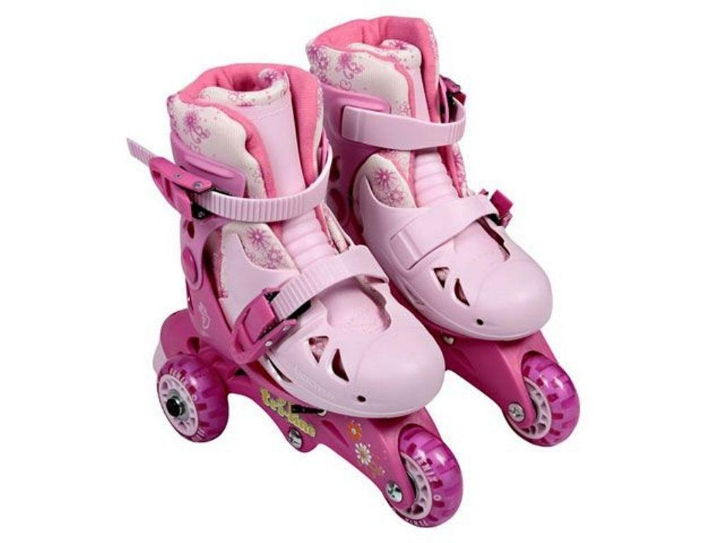 Meu 1º Patins Tri-line Ajustáveis com Acessórios 30 a 33 Rosa - Fenix Brinquedos