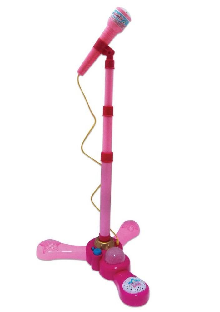 Microfone com Pedestal Luz e Som - Fenix Brinquedos