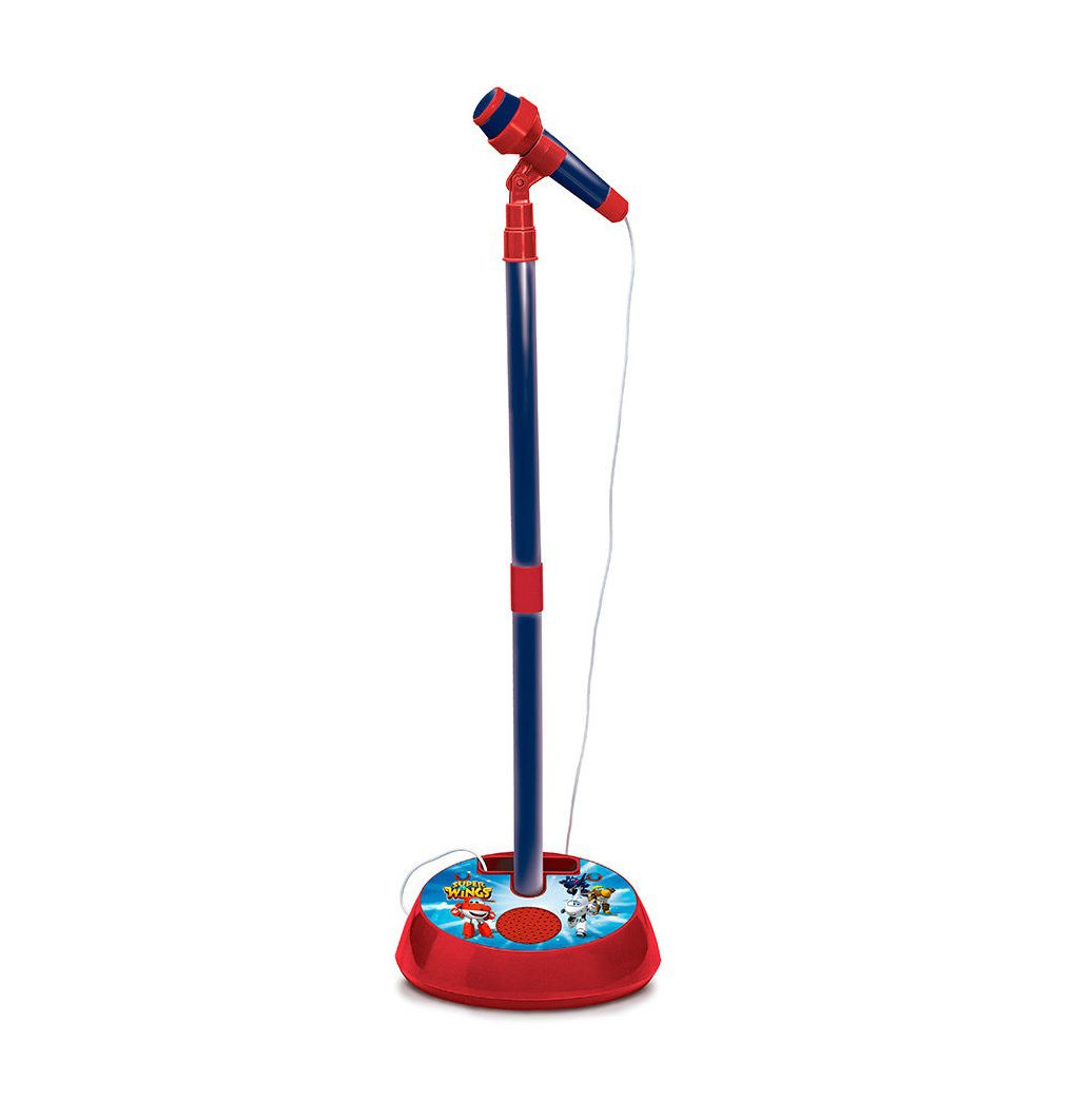 Microfone com Pedestal Super Wings - FUN