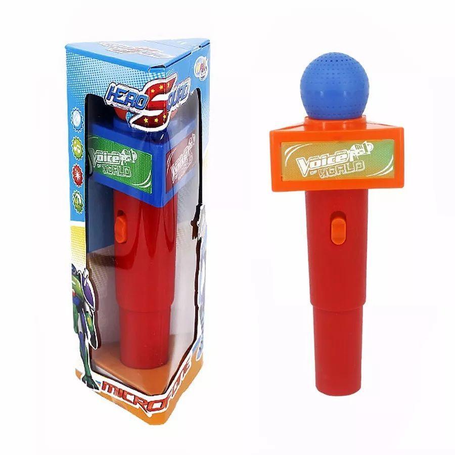 Microfone Hero Squad com Luz e Som Sortidos - Wellmix