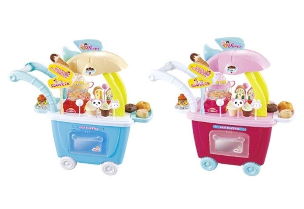 Mini Doceria Carrinho de Doces Mini Pipoqueira com Luz e Som - Fenix Brinquedos