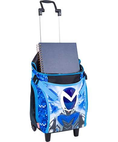 Mochila com Rodinha Grande Max Steel Azul - Sestini