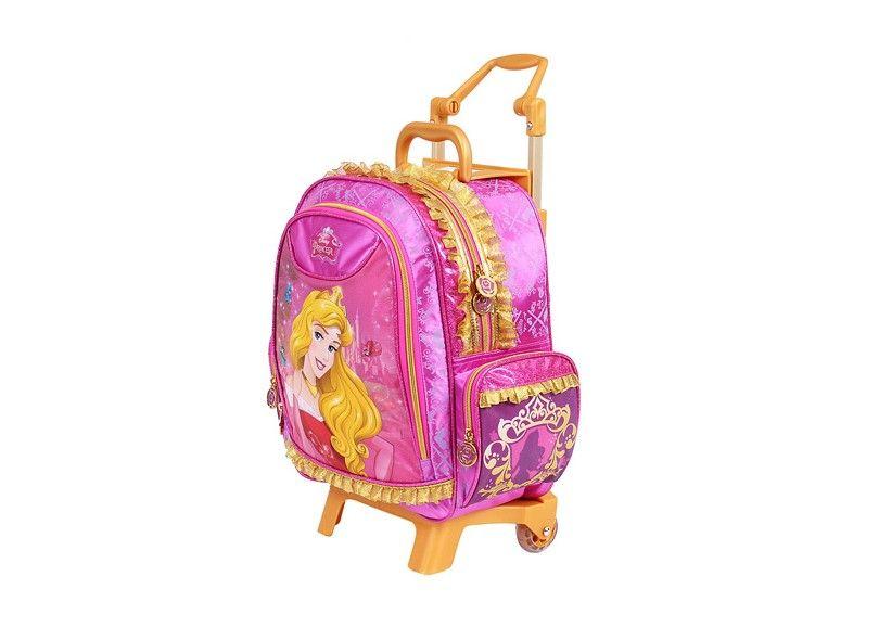 Mochila com Rodinha Grande Princesas Rosa - Disney