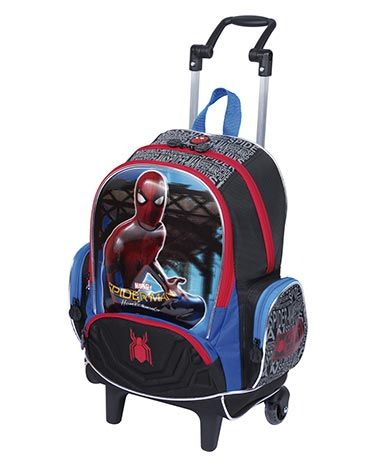 Mochila com Rodinha Grande Spider-Man Azul/Vermelha - Sestini