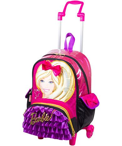 Mochila com Rodinha Média Barbie com Bolsinha - Sestini