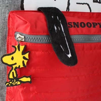 Mochila com Rodinha Média Snoopy Cinza/Vermelha - Luxcel