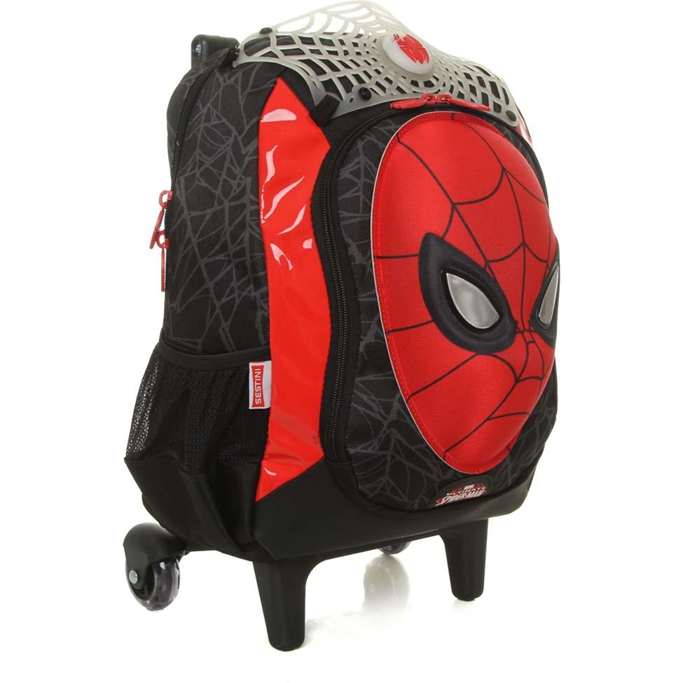 Mochila com Rodinha Média Spider Man Estampa 3D - Sestini